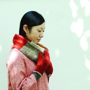 北海道の編み物作家、手紡ぎ羊毛作家